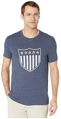 Lucky Brand Lucky Shield Tee (American Navy) Men's Clothing