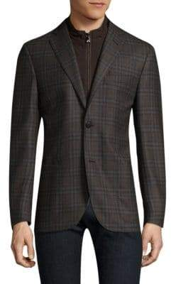 Corneliani Plaid Wool Jacket
