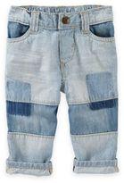 OshKosh Baby B'gosh® Patchwork Hickory Stripe Jean in Blue
