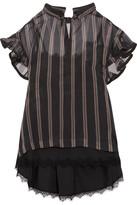 Sacai Ruffled Striped Silk-organza Top - 4