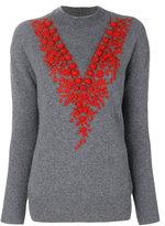 Zanone embroidered knit jumper