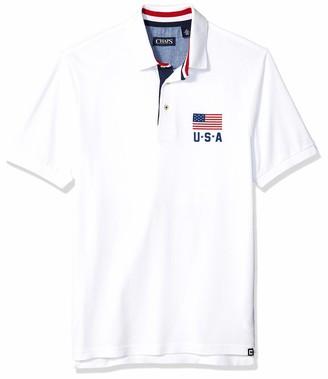 Chaps Men's Classic Fit Fashion Cotton Mesh Polo Shirt
