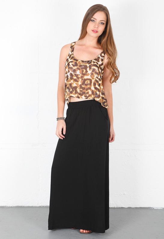 Splendid Maxi Skirt in Fiesta -