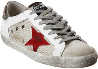 Golden Goose Superstar Suede And Leather Sneaker