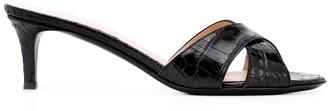 Giuseppe Zanotti Cross Strap 6mm Heel Mules