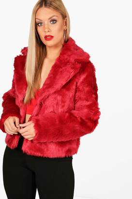 boohoo Plus Faux Fur Coat