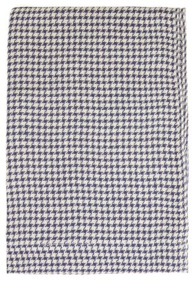 Once Milano - Houndstooth Linen Table Runner - Navy Multi