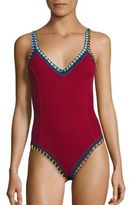 Kiini Soley Crocheted One-Piece Maillot