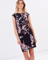 Wallis Fern Floral Rouched Side Dress
