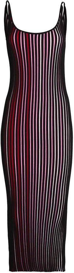 Paco Rabanne Striped Knit Maxi Dress