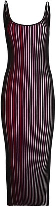 Paco Rabanne Striped Knit Maxi Dress