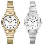 Timex Women's Easy Ready | Stainless Steel Band Indiglo Date | Style Watch