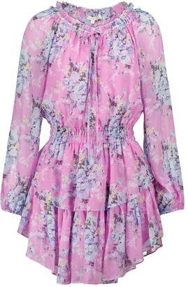 LoveShackFancy Popover floral minidress