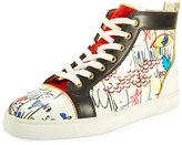 Christian Louboutin Louis Loubi Tag Men's Lace-Up Sneaker