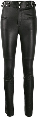 Isabel Marant Stud-Embellished Skinny Trousers