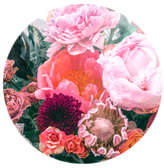 Oliver Gal Floralia (Round Acrylic)