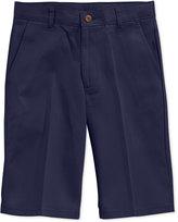 Nautica Uniform Flat Front Twill Slim Shorts, Boys