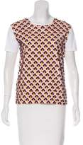 Prada Embroidered Short Sleeve Top