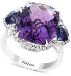 Effy Multi-Gemstone (9-9/10 ct. t.w.) & Diamond (1/5 ct. t.w.) Ring in 14k White Gold