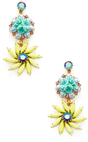 Elizabeth Cole Flower Statement Earrings