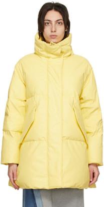 MM6 MAISON MARGIELA Yellow Down Faux-Leather Coat