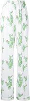 Dalood - cactus pyjama trousers - women - Silk/Polyester/Viscose - 36