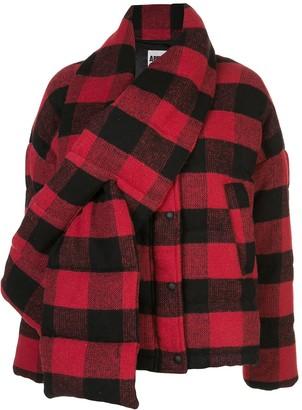 Apparis Plaid Puffer Jacket