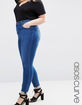 High Waisted Dark Wash Skinny Jeans - ShopStyle