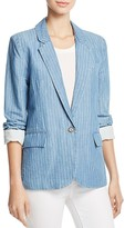 Joie Gabrianna Striped Chambray Blazer