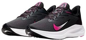 Nike Zoom Winflo 7 (Dark Smoke Grey/Black/Fire Pink/White) Women's Shoes