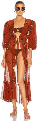 Johanna Ortiz Copper Morning Mist Dress in Copper Pot | FWRD