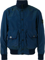 Stone Island arm patch bomber jacket - men - Polyester/Polyurethane Resin/Polyimide - L