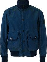 Stone Island arm patch bomber jacket