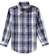 Class Club Big Boys 8-20 Plaid Poplin Long-Sleeve Sportshirt