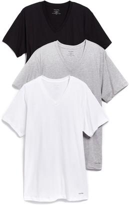 Calvin Klein Underwear 3 Pack Classic Regular Fit V-Neck Tee