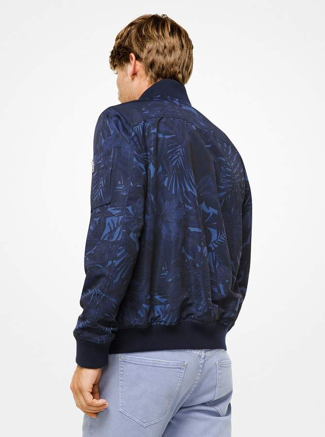 Michael Kors Tropical Tech Bomber Jacket