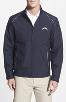 Cutter & Buck Men's Big & Tall San Diego Chargers - Beacon Weathertec Wind & Water Resistant Jacket