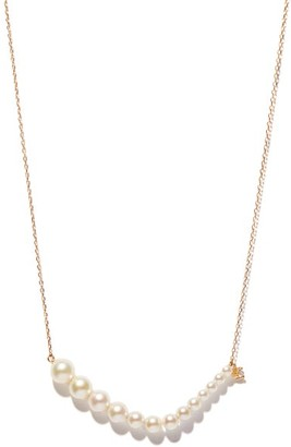 Mizuki Diamond, Akoya Pearl & 14kt Gold Necklace - Pearl