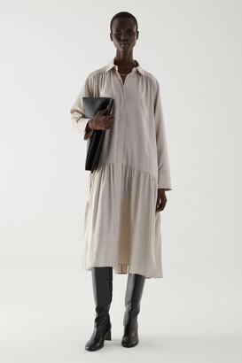 Cos Tiered Midi Shirt Dress