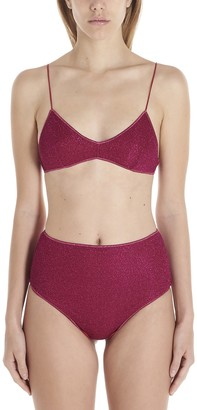 Oseree Lurex High-Rise Bikini Set