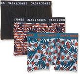 Jack and Jones Men's Jjacfence Flow Trunks 3 Boxer Shorts, Multicoloured-Mehrfarbig (Navy Blazer Detail:Corsair and Black Navy), pack of 3