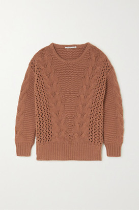 Agnona Cable-knit Cashmere Sweater - Brown