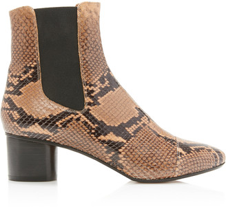 Isabel Marant Danae Snake-Effect Leather Ankle Boot