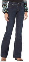 Thumbnail for your product : Rock and Roll Cowgirl Mid-Rise Trousers and Clean Pocket in Dark Wash W8M6096