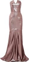 Roland Mouret Brenner Strapless Lamé Gown - Purple