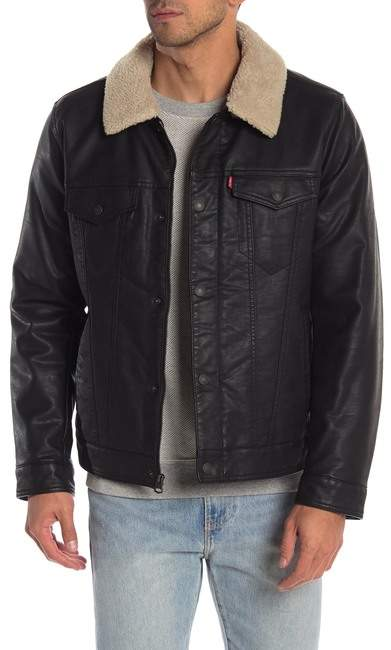 Levi's Faux Shearling Lined Faux Leather Jacket