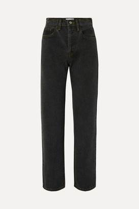 Still Here - Childhood High-rise Straight-leg Jeans - Black