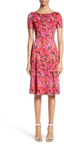 St. John Women's Indian Rose Blister Jacquard Dress