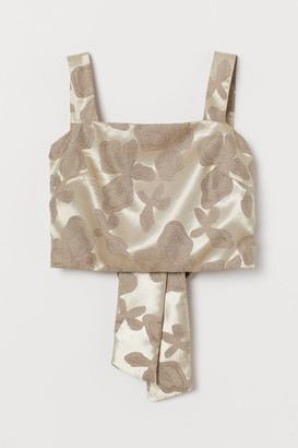 H&M Cropped top with a bow