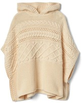 Gap Cable knit hoodie poncho